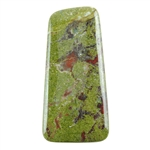 Natural Dragon Blood Jasper Gemstone - Cabochon Tapered Rectangle 31mm x 65mm Pkg - 1