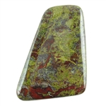 Natural Dragon Blood Jasper Gemstone - Cabochon Tapered Rectangle 43mm x 58mm Pkg - 1