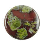 Natural Dragon Blood Jasper Gemstone - Cabochon Round 25mm Pkg - 1