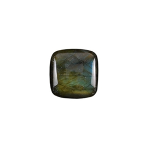 Natural Labradorite Gemstone - Cabochon Square 20mm - Pak of 1
