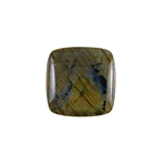 Natural Labradorite Gemstone - Cabochon Square 30mm Pkg - 1
