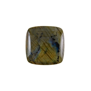 Natural Labradorite Gemstone - Cabochon Square 30mm - Pak of 1
