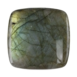 Natural Labradorite Gemstone - Cabochon Square 40mm - Pak of 1