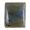 Natural Labradorite Gemstone - Cabochon Rectangle 16mm x 19mm - Pak of 1