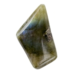 Natural Labradorite Gemstone - Cabochon Rectangle 21mm x 24mm - Pak of 1