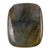 Natural Labradorite Gemstone - Cabochon Rectangle 18mm x 22mm - Pak of 1