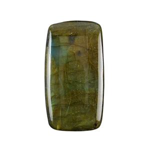 Natural Labradorite Gemstone - Cabochon Rectangle 22mm x 40mm Pkg - 1