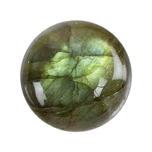 Natural Labradorite Gemstone - Cabochon Round 8mm - Pak of 1