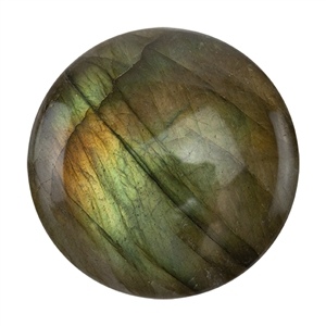 Natural Labradorite Gemstone - Cabochon Round 12mm - Pak of 1