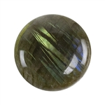 Natural Labradorite Gemstone - Cabochon Round 25mm Pkg - 1