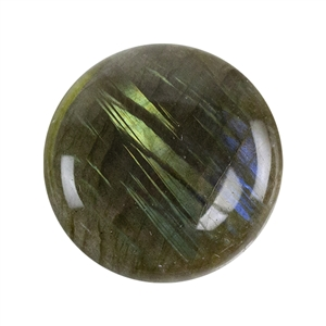 Natural Labradorite Gemstone - Cabochon Round 25mm - Pak of 1