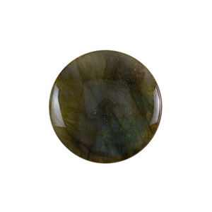 Natural Labradorite Gemstone - Cabochon Round 30mm Pkg - 1