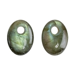 Natural Labradorite Gemstone - Cabochon Trillion 20mm - Pak of 1