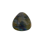 Natural Labradorite Gemstone - Cabochon Trillion 25mm Pkg - 1