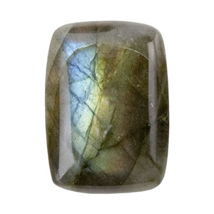 Natural Labradorite Gemstone - Cabochon Rectangle 13x18mm - Pak of 1