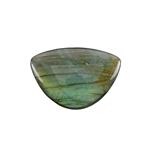 Natural Labradorite Gemstone - Cabochon Half Circle 31mm x 45mm Pkg - 1