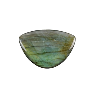 Natural Labradorite Gemstone - Cabochon Half Circle 31x45mm - Pak of 1