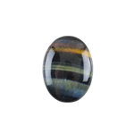 Natural Tiger Eye Blue Gemstone - Cabochon Oval 15x20mm - Pak of 1