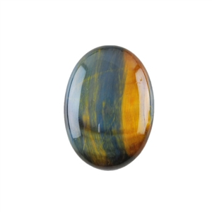 Natural Tiger Eye Blue Gemstone - Cabochon Oval 18x25mm - Pak of 1