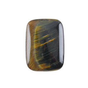 Natural Tiger Eye Blue Gemstone - Cabochon Rectangle 22x30mm - Pak of 1