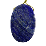 Natural Lapis Lazuli Gemstone - Oval Pendant 28mm x 42mm