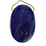 Natural Lapis Lazuli Gemstone - Oval Pendant 32mm x 46mm