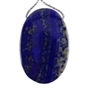 Natural Lapis Lazuli Gemstone - Oval Pendant 28mm x 43mm