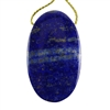 Natural Lapis Lazuli Gemstone - Oval Pendant 25mm x 42mm
