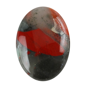 Natural Bloodstone A Gemstone - Cabochon Oval 18x25mm - Pak of 1