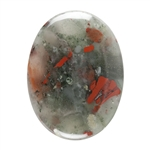 Natural Bloodstone A Gemstone - Cabochon Oval 22x30mm - Pak of 1