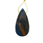 Blue Apatite Jasper Gemstone - Pear Pendant 27x53mm - Pak of 1