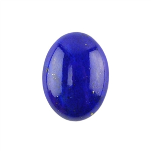 Natural Lapis Lazuli Gemstone - Cabochon Oval 15x20mm - Pak of 1