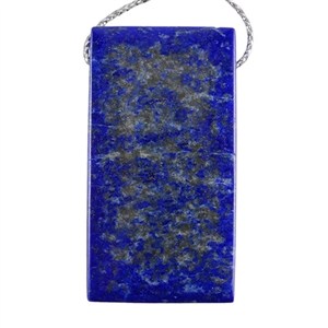 Natural Lapis Lazuli Gemstone - Rectangle Pendant 25mm x 47mm
