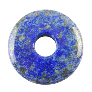 Natural Lapis Lazuli Gemstone - Round Pendant 37mm Pkg -1