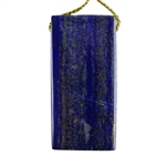 Natural Lapis Lazuli Gemstone - Rectangle Pendant 22mm x 45mm