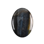 Natural Tiger Eye Blue Gemstone - Cabochon Oval 22mm x 30mm - Pak of 1