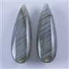 Natural Labradorite Gemstone - Cabochon Pear 23mm x 35mm - Pak of 1