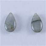 Natural Labradorite Gemstone - Cabochon Pear 21mm x 32mm - Pak of 1