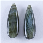 Natural Labradorite Gemstone - Cabochon Pear 17mm x 29mm - Pak of 1