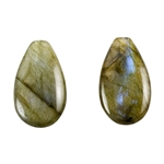 Labradorite Gemstone - Pear - Top-drilled Pendants
