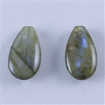 Labradorite Gemstone - Pear - Top-drilled Pendants 9mm x 17mm