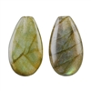 Natural Labradorite Gemstone - Cabochon Pear 15mm x 24mm - Pak of 1
