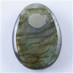 Natural Labradorite Gemstone - Cabochon Freeform 20mm x 25mm - Pak of 1