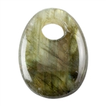 Natural Labradorite Gemstone - Oval Pendant