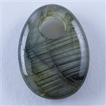 Natural Labradorite Gemstone - Cabochon Freeform 20mm x 28mm - Pak of 1