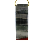 Natural Bloodstone Gemstone - Rectangle Pendant 21mm x 57mm - Pak of 1