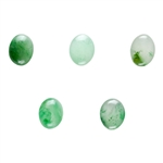 Natural Green Aventurine Gemstone - Cabochon Oval 8mm x 10mm - Pkg of 1