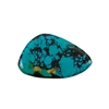 Stabilized Turquoise Gemstone - Cabochon Freeform 30x48mm - Pak of 1