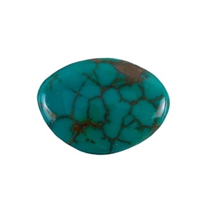 Stabilized Turquoise Gemstone - Cabochon Freeform 28x37mm - Pak of 1