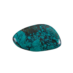 Stabilized Turquoise Gemstone - Cabochon Freeform 27x47mm - Pak of 1